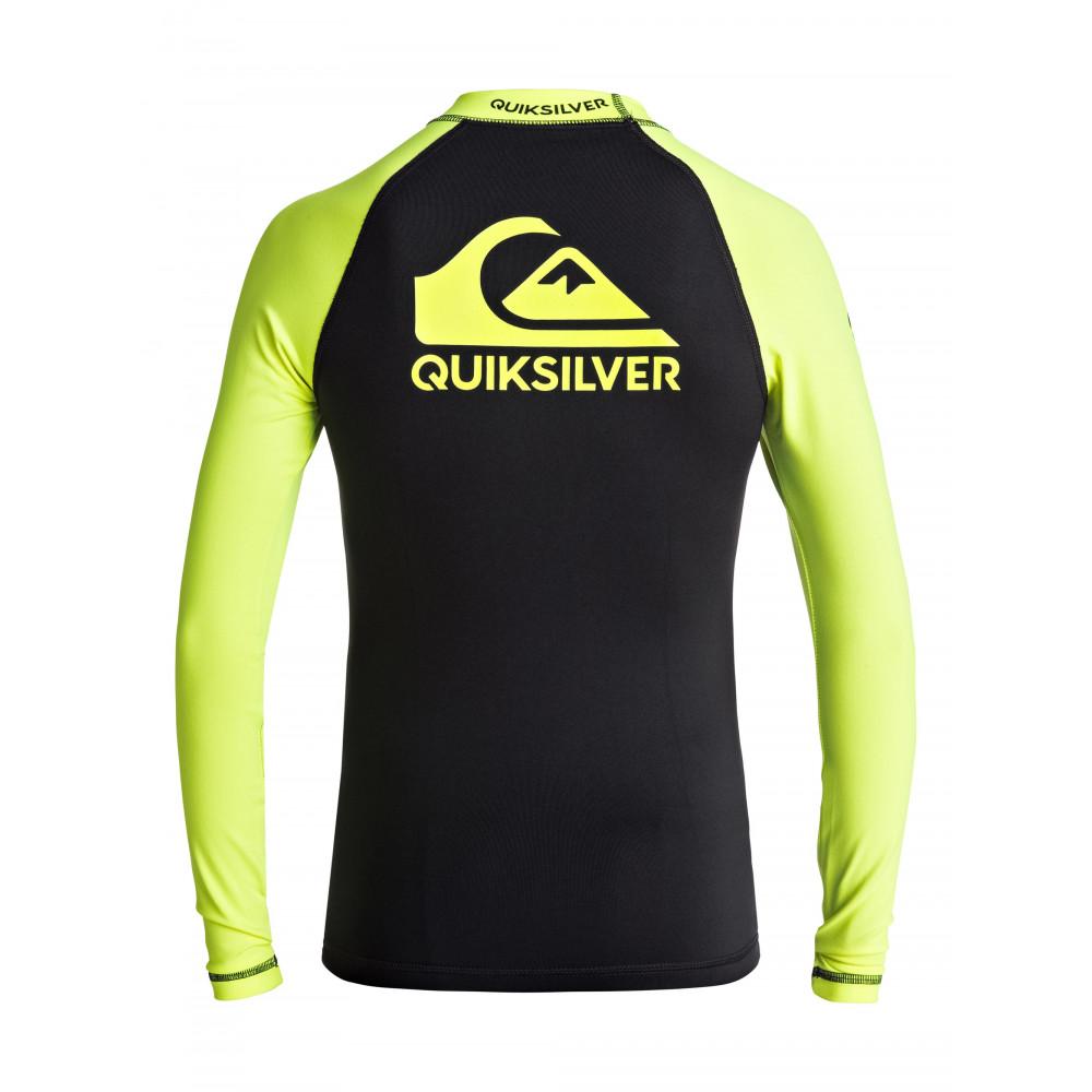 Boys 8-16 On Tour Long Sleeve Rash Vest EQBWR03040 Quiksilver