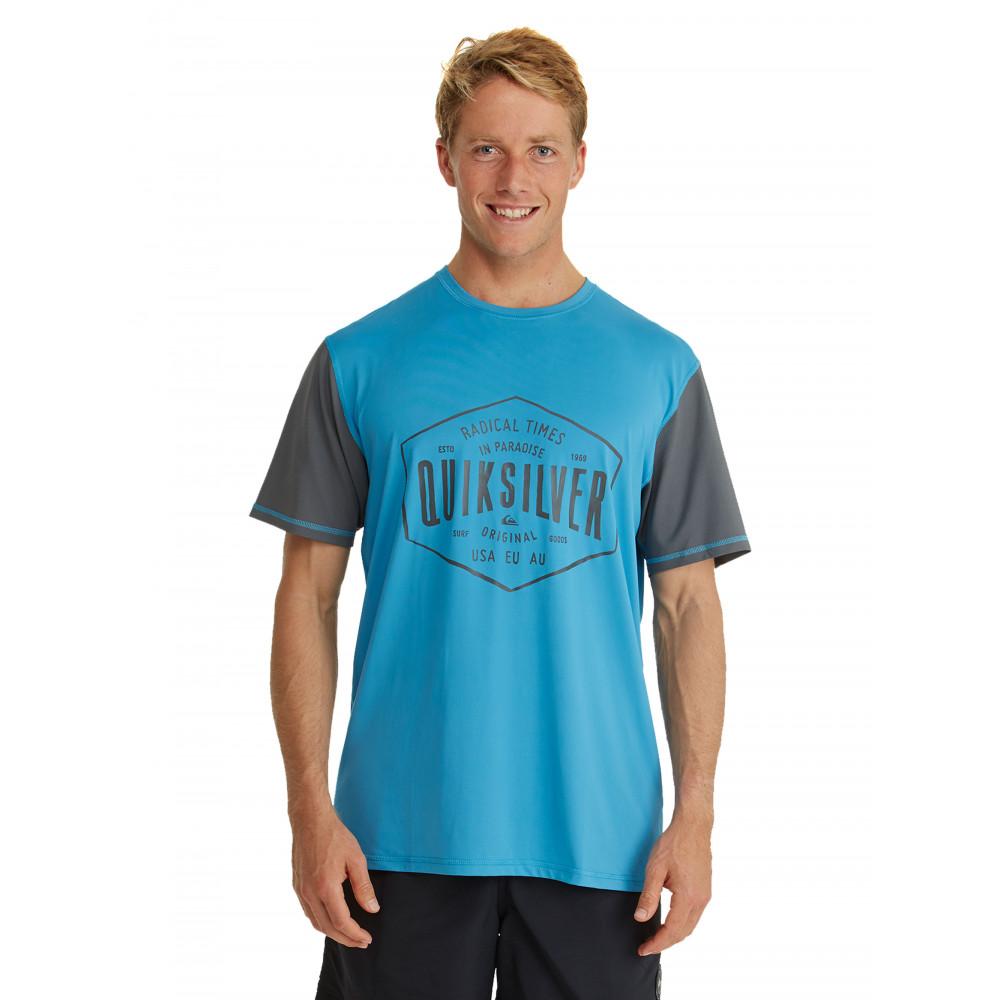 Mens Last Call Rash Vest Surf Shirt EQYWR03068 Quiksilver