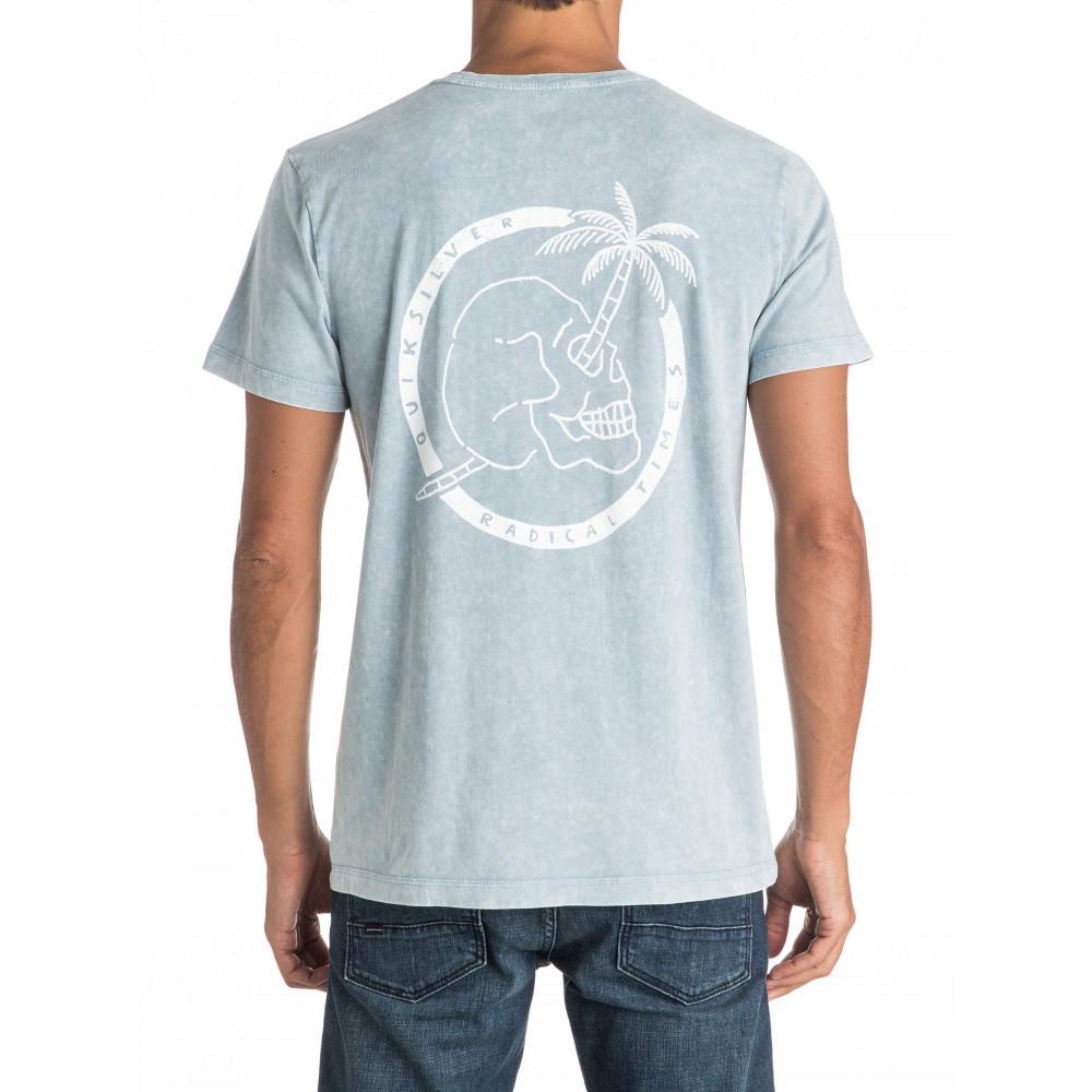 EQYZT04369 Mens Palm Skull 2 T Shirt Quiksilver