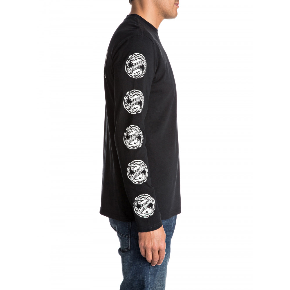 Mens Tribe Tribe Long Sleeve T Shirt EQYZT04406 Quiksilver