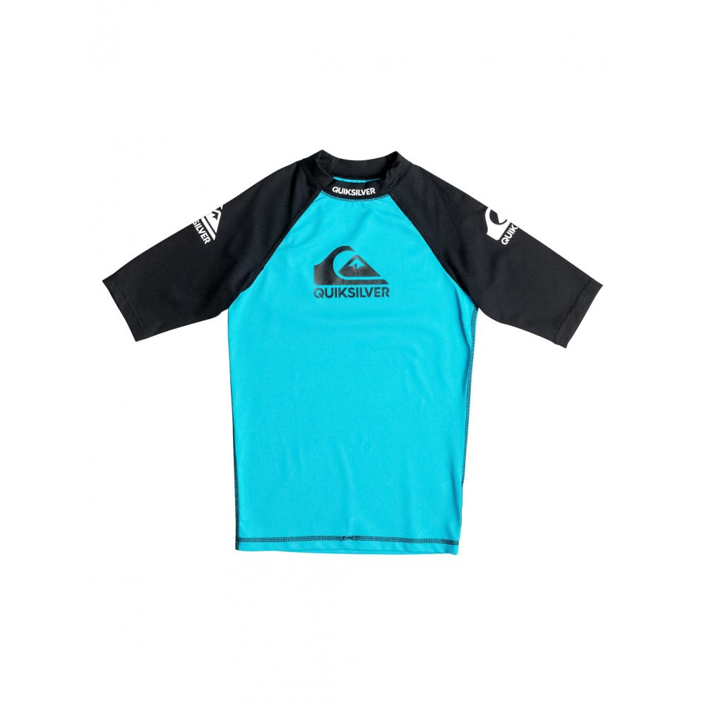 Boys 8-16 Comp Short Sleeve Rash Vest UQBWR03014 Quiksilver