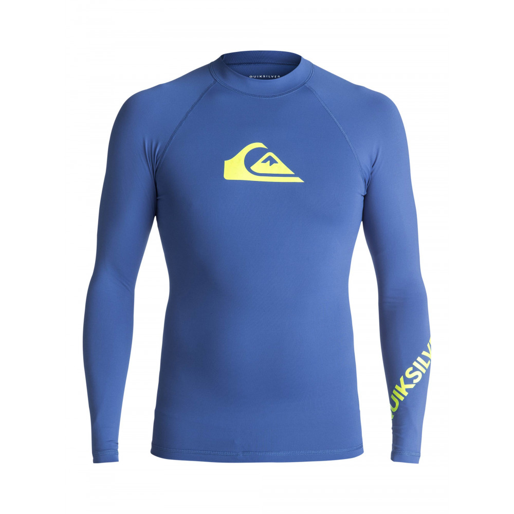 Mens All Time Long Sleeve Rash Vest UQYWR03025 Quiksilver