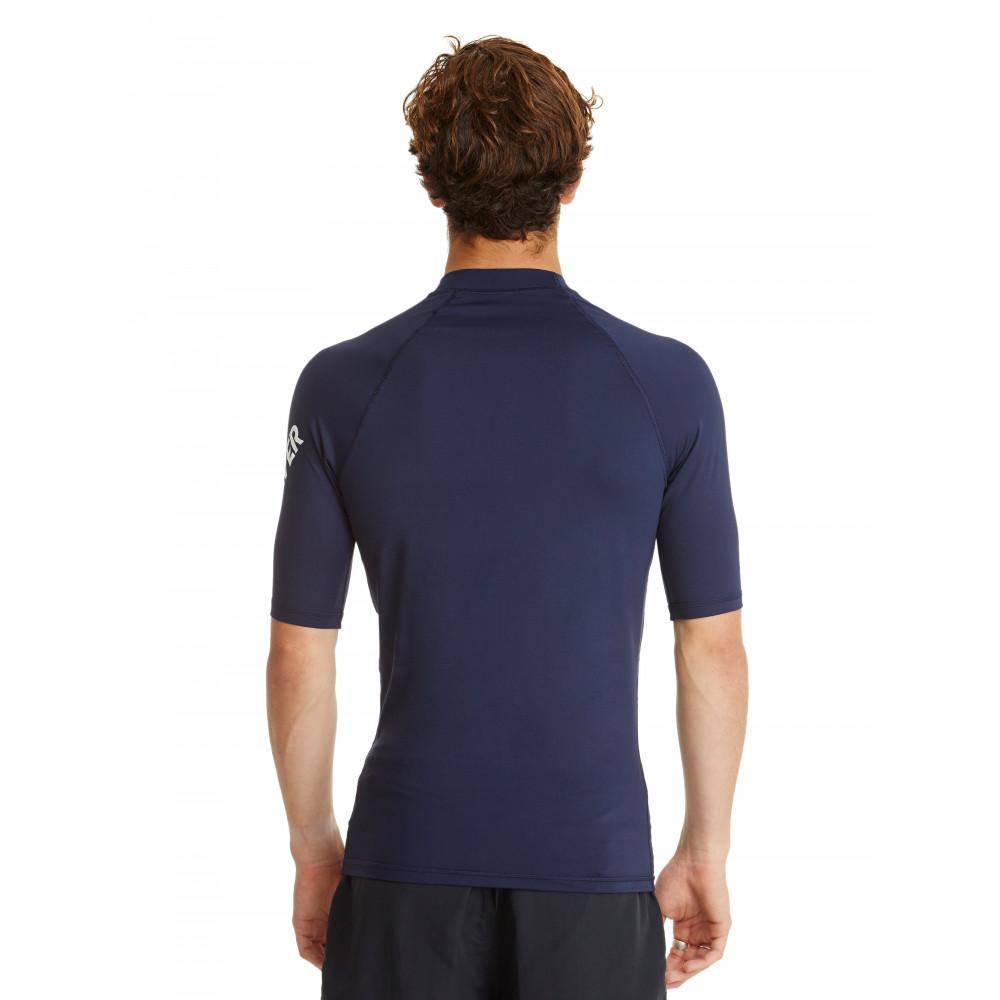 Mens All Time Short Sleeve Rash Vest UQYWR03026 Quiksilver