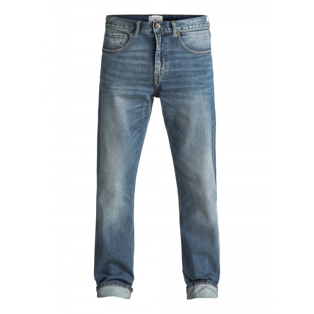 Mens Sequel Burnt Blue Regular Fit Denim Jean